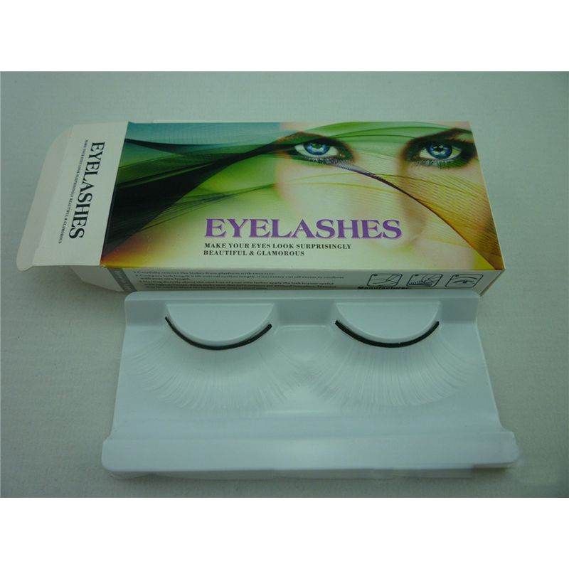 Exaggeration Color Eyelashes Long Dramatic Lashes Off White Costume Party Eye Lashes Fake Eyelash Extension Makeup Tools