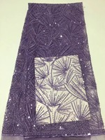 French lace fabric 5yds/pce dhl bling full sequins beaded tube fabrics women luxury gorgeous party event dress 2019 high quality