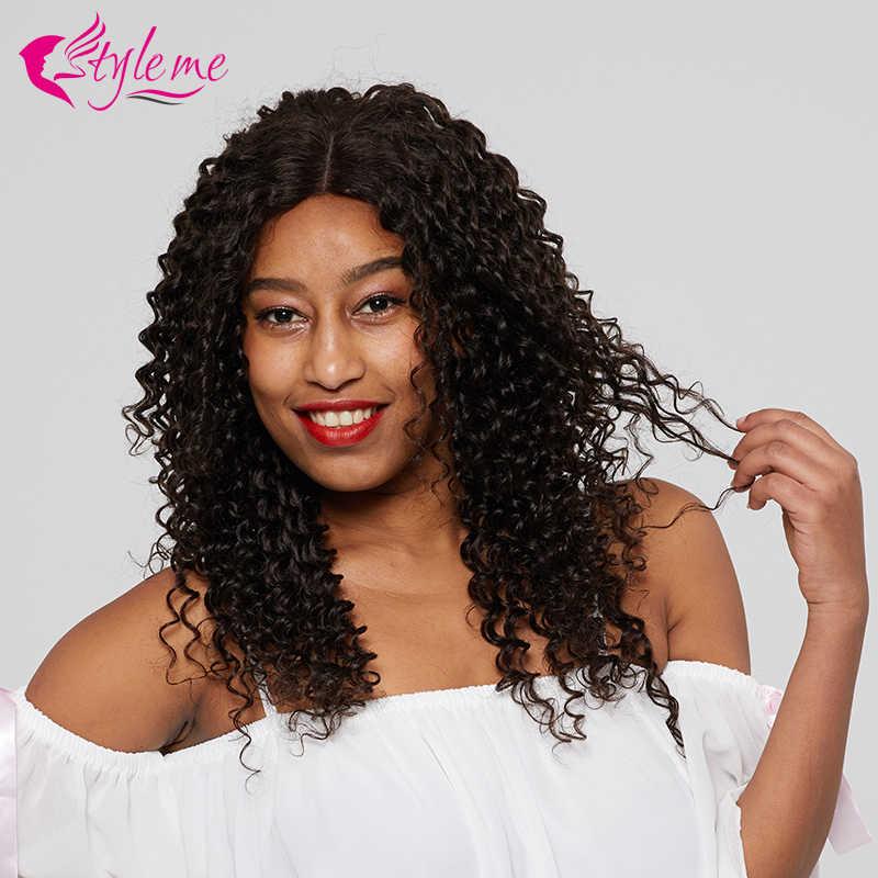 Предварительно сорванный бразильский глубокий волнистый кружевной передний парик человеческих волос для черных женщин #2 коричневый парик Боб 4*4 парик из натуральных волос стиль меня