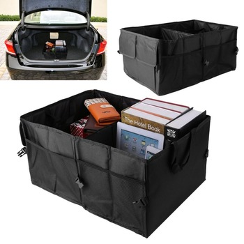 Portable Folding groceries Toy Organizer bag Car Back-Up Storage Box Trunk Bag Container Vehicles Tool Home Office Oxford cloth image