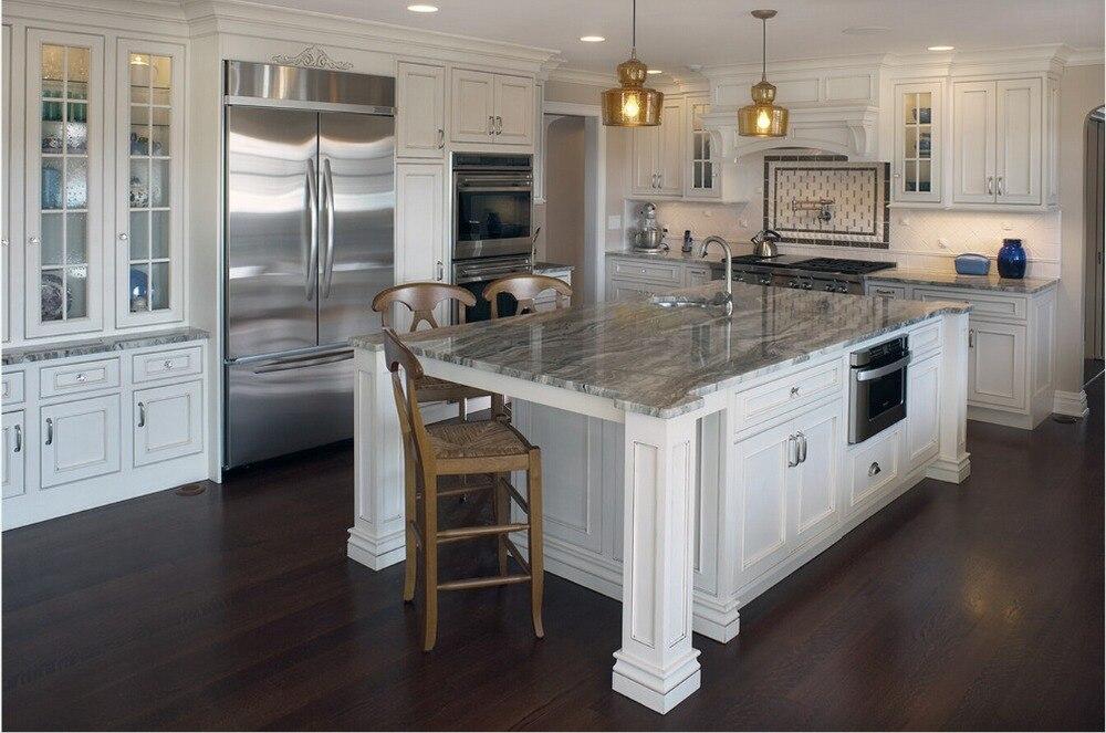 2017 vendite calde cucina in legno massiccio armadio armadi da ...