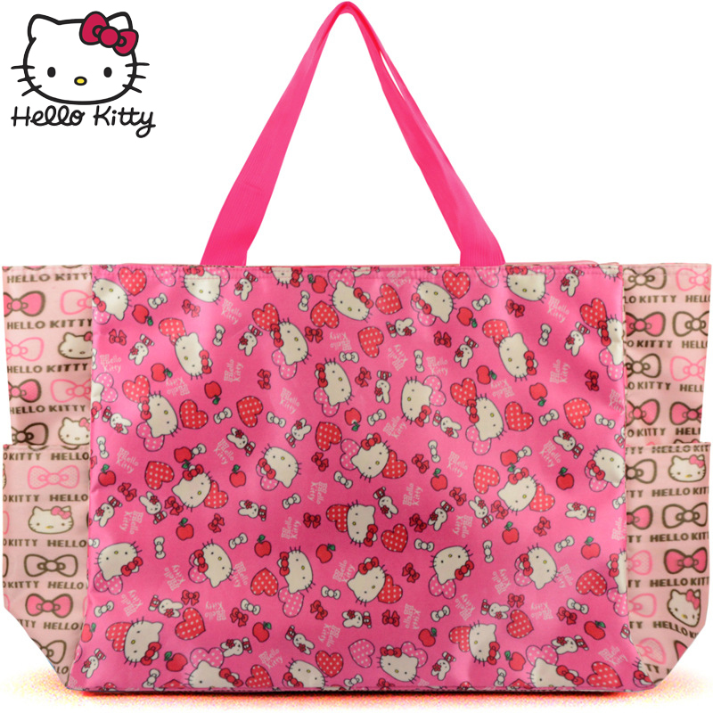 Hello Kitty 2019 mode sac sacs à main maman unique épaule diagonale sac belle filles Shopping Nylon Portable en peluche sac à dos KT - 5