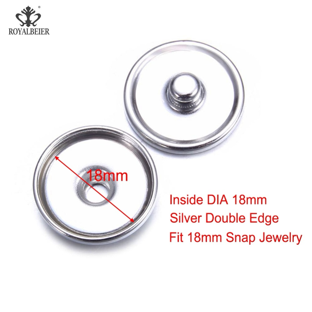 100 Batch Snap Base 10 16 18mm Gold Plated Silver Plated Snap Fasteners DIY Snap Buckle Bracelet Snap Jewelry in Jewelry Findings Components from Jewelry Accessories