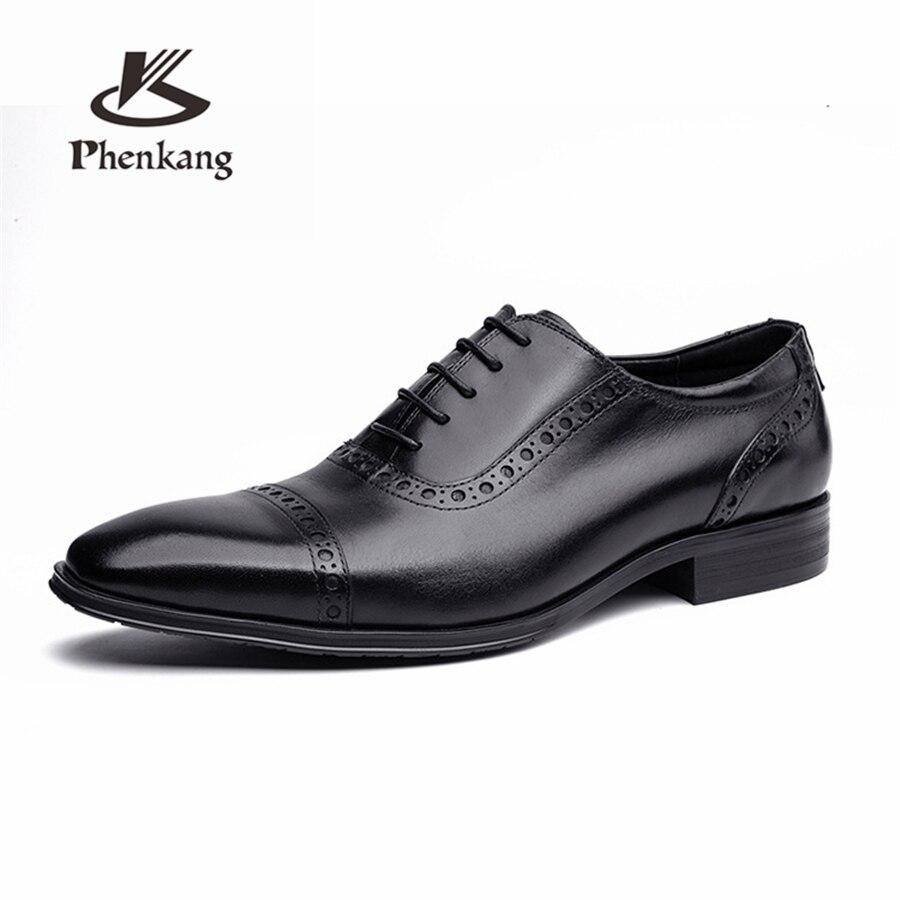 Свадебные туфли Броги из 100% натуральной коровьей кожи; мужская повседневная обувь на плоской подошве; винтажные оксфорды ручной работы для ... - 2