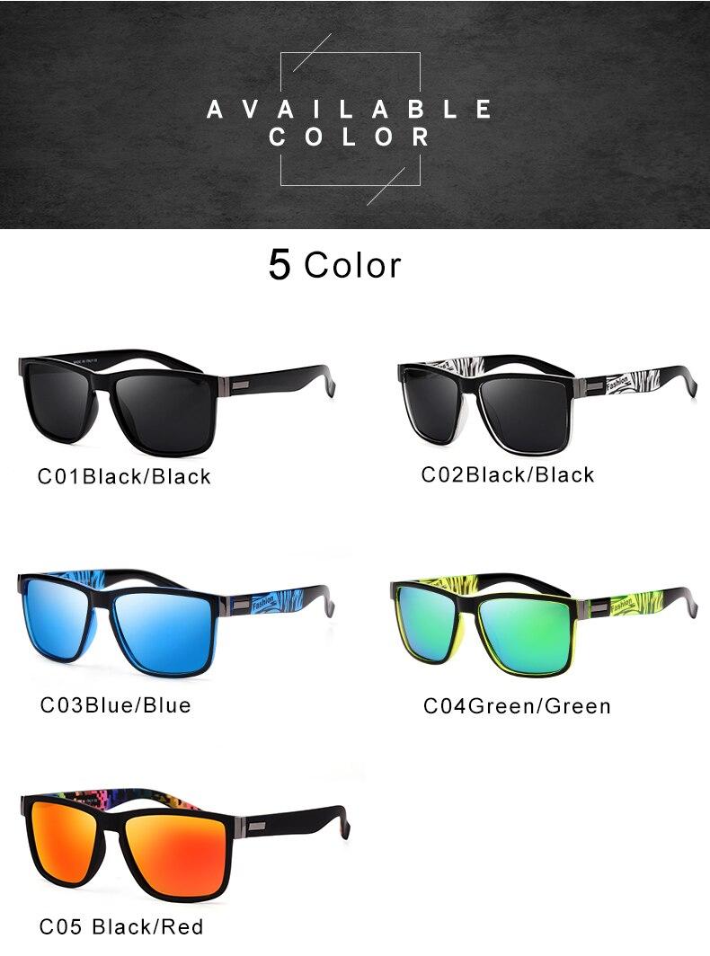 ASUOP 2019 New Men's Polarized Sunglasses UV400 Fashion Square Ladies'Glasses Classic Retro Brand Design Driving Sunglasses (1)