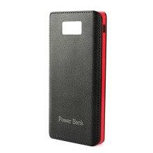 Power Bank 20000Mah Portable Charger PU Leather 4 USB Powerbank External Battery for Samsung s8 Xiaomi mi 6 Cargador Portatil