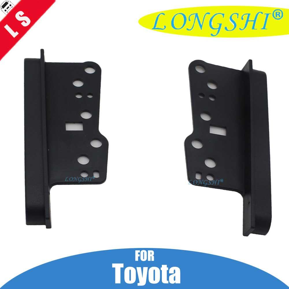 Autostereo Toyota Universal Side Brackets Car Dash Radio Installation Pocket Kit Storage Box Car Radio Adapter in-Dash Mounting Frame