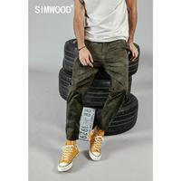 SIMWOOD 2019 summer new Camouflage ankle length pants men side zipper pocket fashion hip hop streetwear trousers 190270