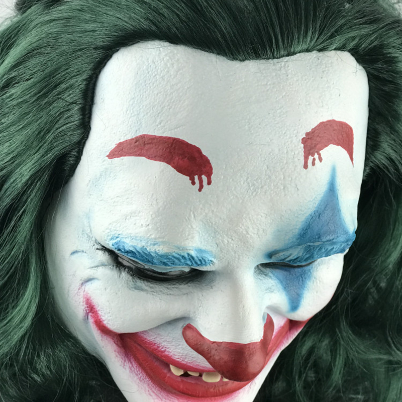 Movie Joker Arthur Fleck Mask Cosplay Latex Masks Halloween Party