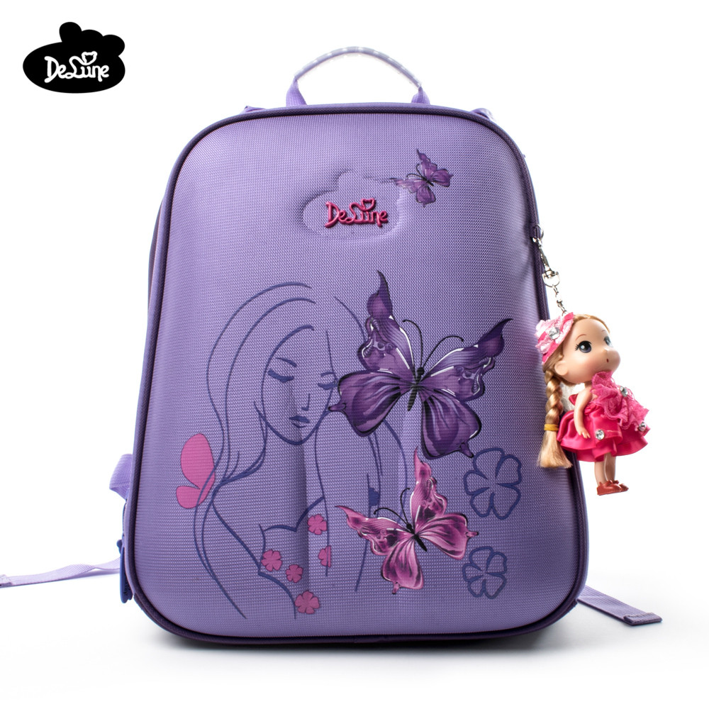 Delune children high quality cartoon school bags boys girls students creative kids travel orthopedic satchel school