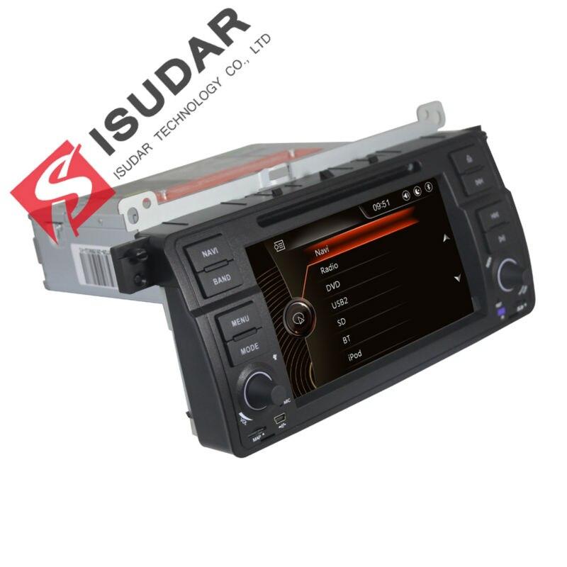 Isudar Lecteur Multimédia De Voiture GPS Pour BMW/BMW/E46/Rover Canbus 7 pouce Tactile Capacitif Écran Arrière vue Caméra Microphone DVR FM
