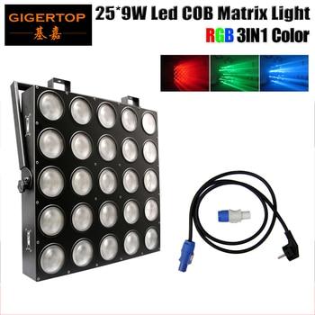 Gratis verzending 25x9 W RGB 3IN1 LED Pixel Matrix Blinder Licht 25 Hoofd Led Podium Effect Licht Tianxin 5*5 Lamp Lcd 90 V-240 V