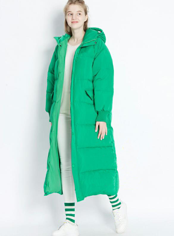 Oversize Women Winter   Down   Jacket X-Long Duck   Down   Jacket Hooded Winter Women   Coat   Custom Made Plus Size