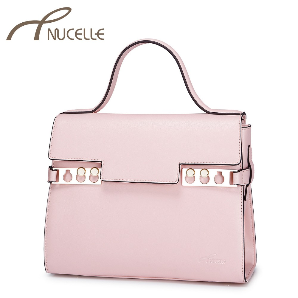 NUCELLE Women Split Leather Handbags Female Fashion Cindy Color Tote Crossbody Bag Ladies Elegant Leather Messenger Bags 1170642 cindy