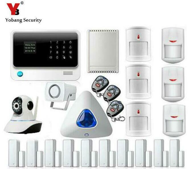 YoBang Security Android IOS APP WIFI GSM Home Office Alarm System Indoor IP Camera Relay Door Window Sensor PIR Motion Detector