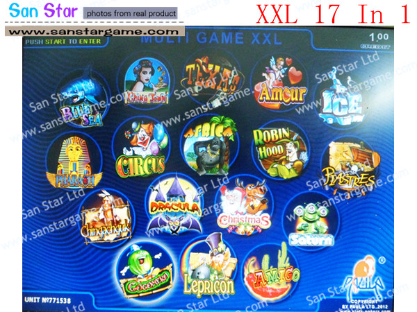 Casino Multi Game Pcb XXL 17 In 1 with touch screen function for Gambling Game Machine-in Coin Operated Games from Sports & Entertainment    1