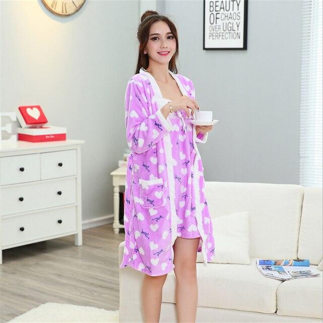 Сексуальная Халат Для Женщин Халат/Платье Устанавливает удобные повседневные пижамы домашней одежды Халат С Длинными рукавами пижамы (Слинг и халаты)