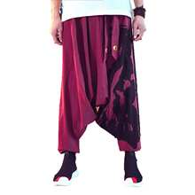 Men Hip Hop Baggy Cotton Linen Harem Pants Men Women track pants Male Wide Leg Trousers harajuku streetwear Pant Cross-pants 5XL new cool cross pants male hip hop fashion baggy cotton linen harem pants men punk plus size wide leg trousers loose casual pants
