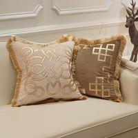 Avigers High quality Embroidered Cushion Stripe Velvet Pillow Case Core Home Decorative European Louvre Sofa Car Throw Pillows