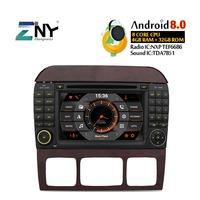 7 IPS Android 8.0 Car DVD GPS For Benz S CL Class S320 S350 W220 W215 CL600 Auto Stereo Radio FM Audio Video Free Rear Camera