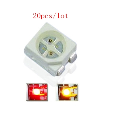 40pcs/lot Red&Yellow Bicolor Smd Led 3528 Light Diode 1210 Surface Mount Chip Led Light Emitting Diode CE&Rohs