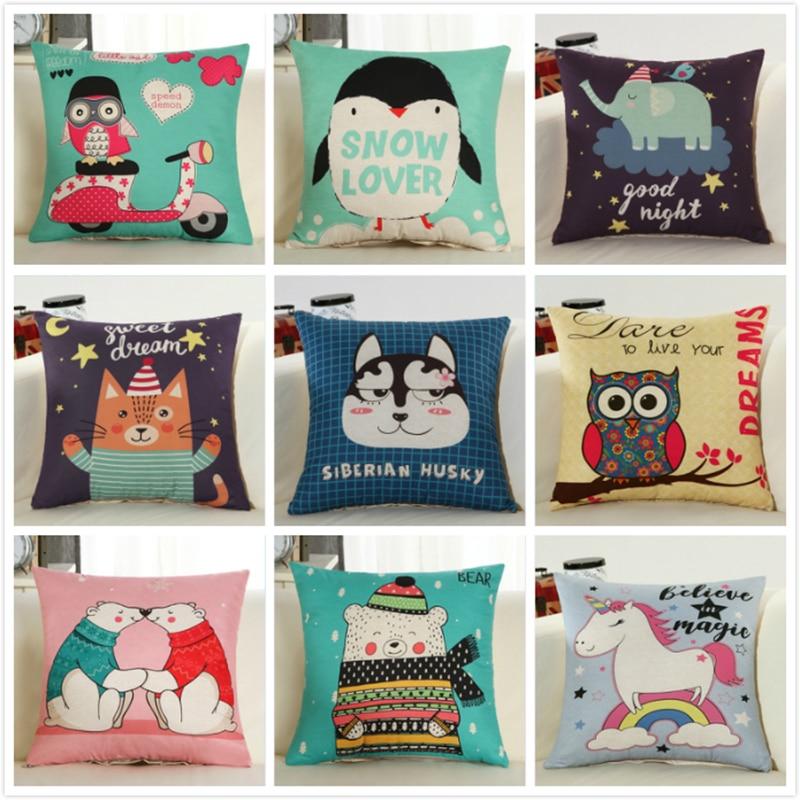 Creative Cute Animal Cat Dog 18x18 inches Cushion 45x45cm Child Kids Beds Decors Pillow Sofa Car Chair Seat Back Cushions Pads