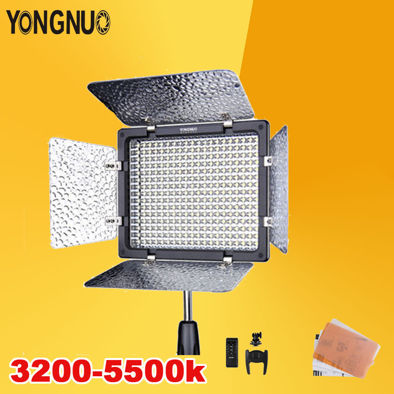 YONGNUO YN300 III 300 LED Camera Video Light Lamp with Adjustable Color Temperature 3200K-5500K for Canon Nikon Pentax Olympas free shipping yongnuo yn300 iii led 5500k camera video flash light yn300 iii for dslr camera olympus app yongguo np 750 5200mah