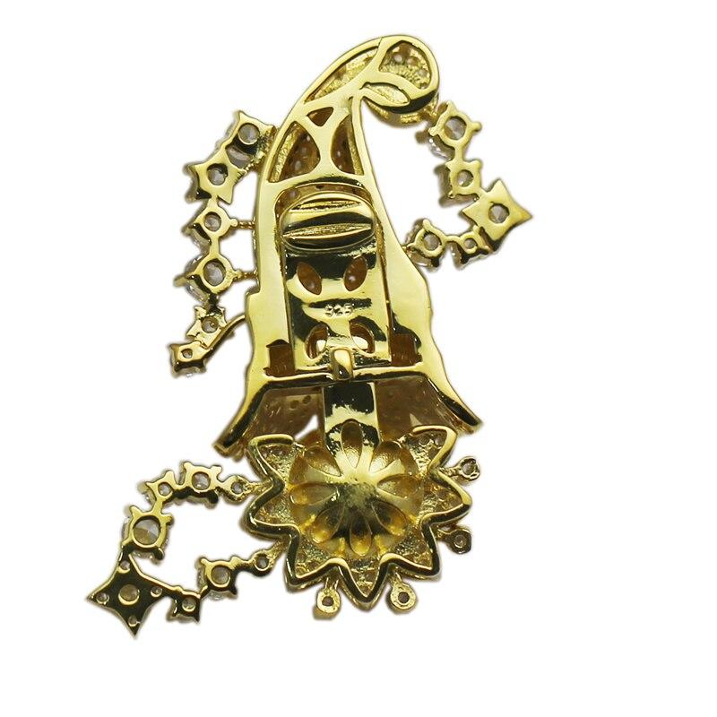 Beadsnice 925 collier en argent Sterling fermoir réglage CZ Pave grande boîte fermoir bijoux résultats fournitures bricolage cadeau ID35288 - 3