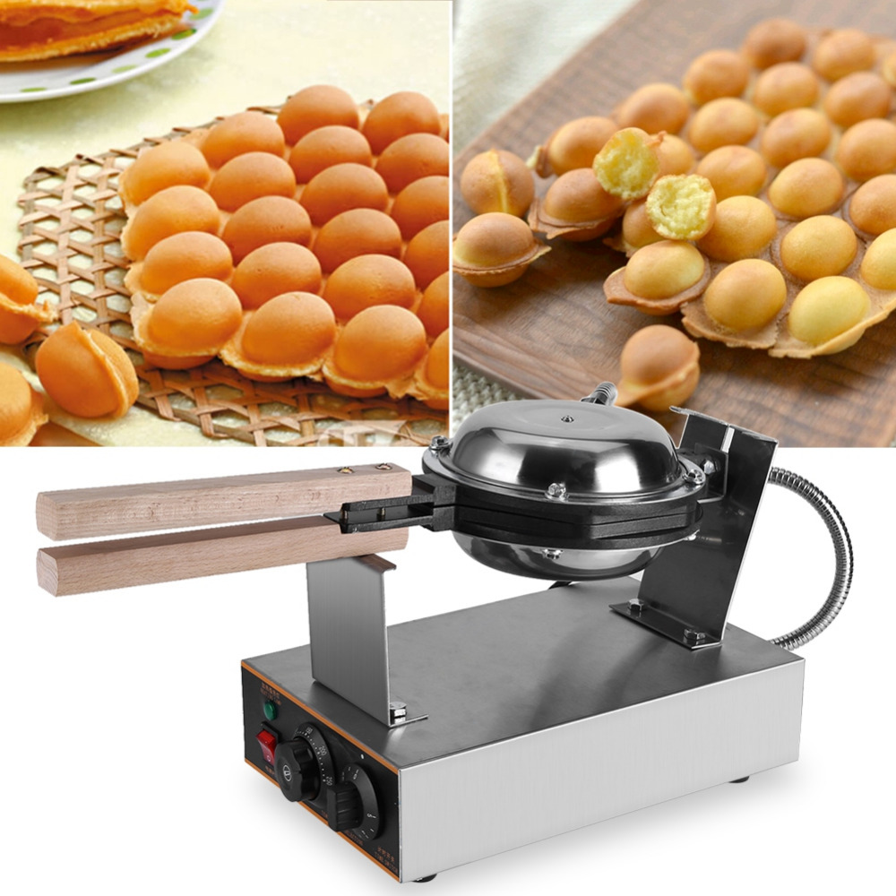 Stainless Steel Electric Egg Cake Oven Puff Bread waffle Maker puff egg waffle machine egg cake
