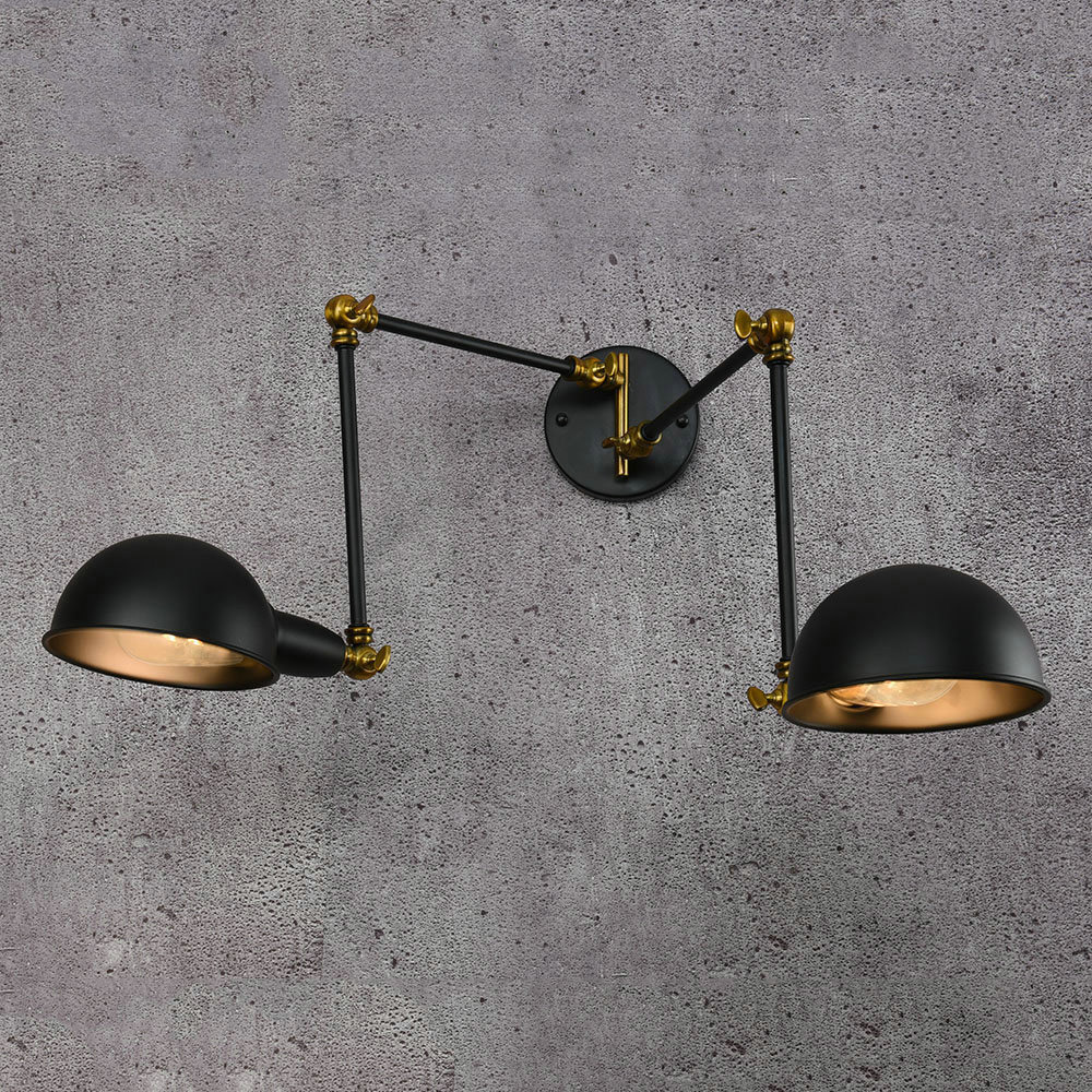 Loft Industrial black retro wall lamps Vintage E27 LED sconce Adjustable Iron wall lights for living room bedroom barLoft Industrial black retro wall lamps Vintage E27 LED sconce Adjustable Iron wall lights for living room bedroom bar