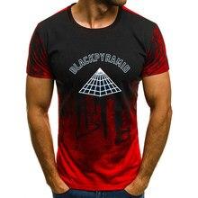 4c6d6dcb3 Casual fashion camouflage 2018 new print black pyramid men's slim short-sleeved  shirt T-shirt