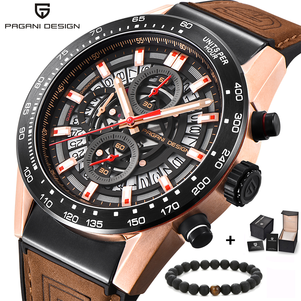 Pagani design Mens Watches Top Brand Luxury Quartz Men Watch leather silicone Strap Casual Sport Male clock Relogio Masculino reloj hombre pagani design sport leather strap watches men top brand luxury multifunction quartz watches clock relogio masculino