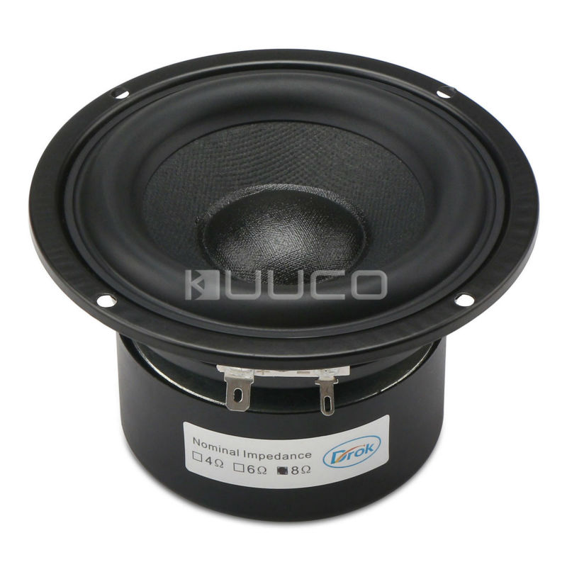 Woofer Speaker 4-inch 8 ohms Antimagnetic Loudspeaker 40W Audio Speaker Hi-Fi Subwoofer Speaker Bass Antimagnetic Speaker audio loudspeaker 40w woofer speaker double magnetic speaker 4 5 inch 4 ohms subwoofer bass speaker for diy speakers
