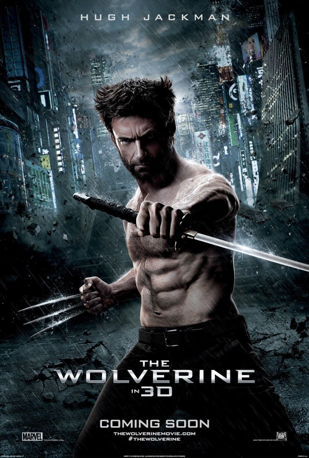 The Wolverine (2013) Movie Hugh Jackman SILK POSTER Wall painting 24x36inch image