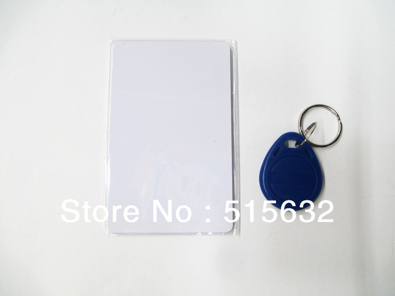 125KHz RFID ID Card Reader & Writer/Copier/Programmer+ Rewritable ID Card & KeyFob COPY EM4100 EM4102 Proximity T5577