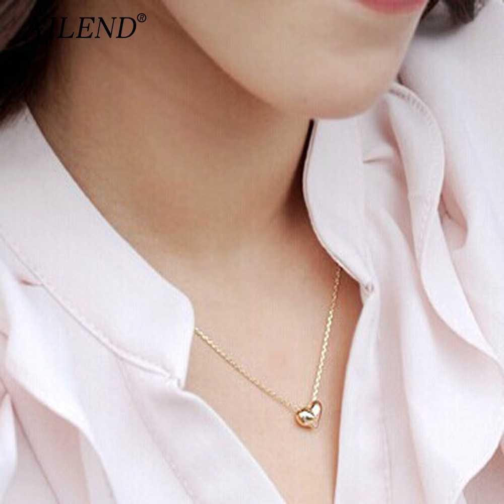 AILEND новый дизайн Простые Модные ювелирные изделия женские короткие аксессуары элегантная Милая Золотая подвеска в форме сердца ожерелье подарок для девочки
