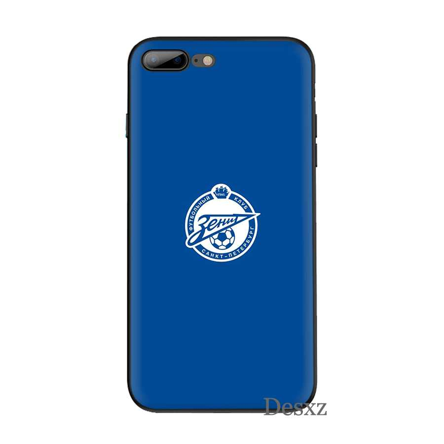 Kasus Ponsel Silikon TPU untuk iPhone 7 8 6 6 S Plus iPhone 11 Pro X XS Max XR 5 5 S SE Cover Zenit Klub Sepak Bola Logo Shell