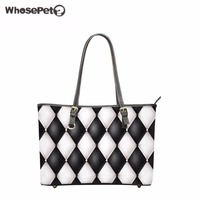 WHOSEPET Pu Women Totes Bag Candy Printings Lady Top Handle Bags High Quality Girls Handbag Ladies
