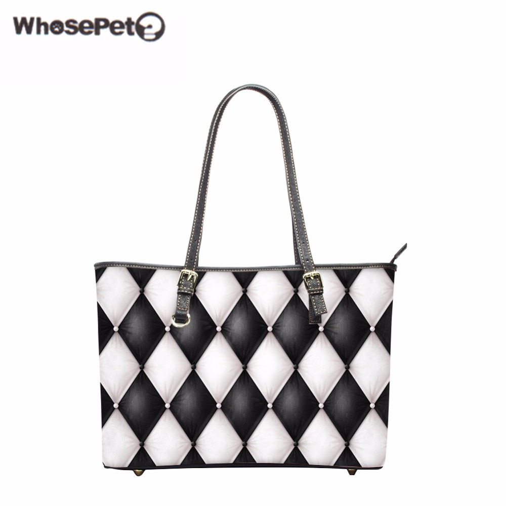 WHOSEPET Pu Women Totes Bag Candy Printings Lady Top-Handle Bags High Quality Girls Handbag Ladies Tote Satchel Fashion Big Bag women shoulder bag top quality handbag new fashion hot lady leather purse satchel tote bolsa de ombro beige gift 17june30