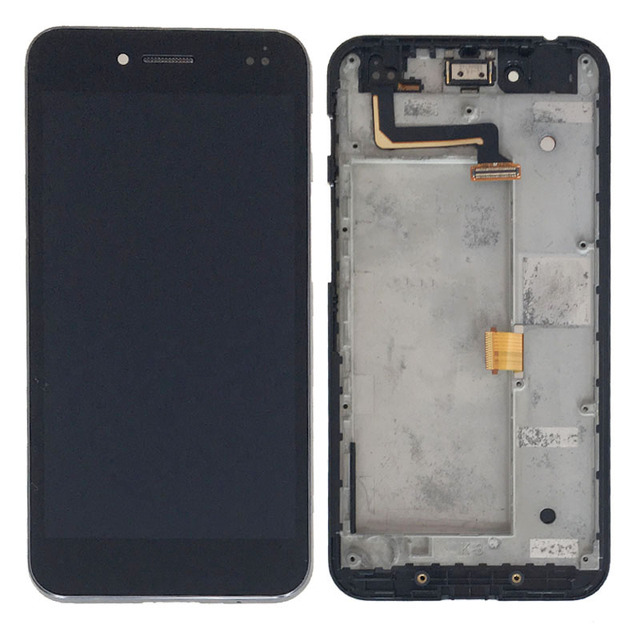 Black LCD Display Glass Touch Screen Digitizer Assembly+Frame For Asus PadFone S PF500KL NEW