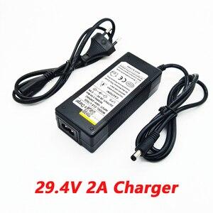 Image 2 - Nouveau chargeur de batterie au lithium de vélo électrique de haute qualité 29.4V 2A 7S pour batterie au lithium 24V 2A chargeur de connecteur RCA