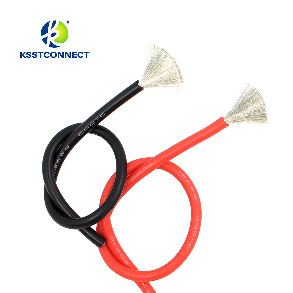 1meter Red+1meter Black Silicon Wire 12AWG <font><b>13AWG</b></font> 14AWG 16AWG 18AWG 20AWG 22AWG Heatproof Soft <font><b>Silicone</b></font> Silica Gel Wire <font><b>Cable</b></font> image