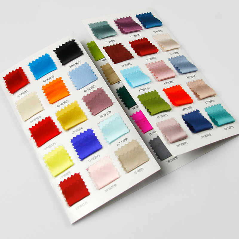 Silk satin spot color card, 60 color spot silk color card sample size 3*3cm