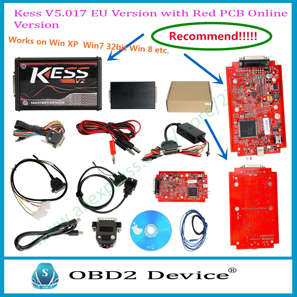 Royal Star KESS V2 V5.017 Software V2.23 Red PCB No Token Limitato ECM Titaniu OBD2 Gestione Sintonia Kit ECU Programmatore