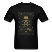 Men T-Shirt Mutant Poison Skull Tshirt Printing Tops Shirt 100% Cotton O-Neck Short Sleeve Halloween Tee Summer/Fall Top Quality