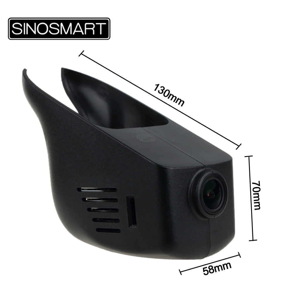 SINOSMART Novatek 96658 Car Wifi DVR for Nissan March/Tiida/Sylphy/X-trail/Teana/Qashqai/Livina Control by App SONY IMX323