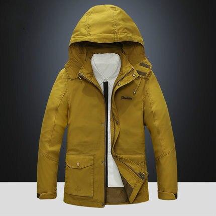 Новая Осенняя Модная тонкая куртка бомбер, Мужская толстовка на молнии с капюшоном, уличная Мужская ветровка - 5