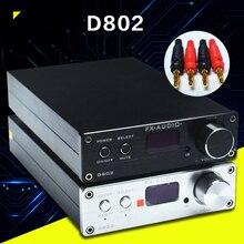 FX-Аудио D802 Вход Дистанционного Управления USB/Коаксиальный/Оптический HiFi 2.0 Чистый Цифровой Аудио Усилитель 24Bit/192 КГц 80 Вт + 80 Вт OLED Дисплей