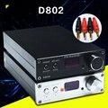 FX-D802 de Audio de Entrada de Control Remoto USB/Coaxial/Óptica HiFi 2.0 Puro Amplificador de Audio Digital 24Bit/192 KHz 80 W + 80 W Pantalla OLED