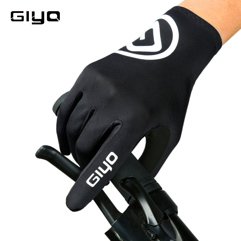 GIYO Cycling Gloves Touch Screen Anti-slip Full Finger Cycling Glove for Man Woman Spring Outdoor Sports MTB Bike Bicycle Gloves esdy hyxl 1 anti slip outdoor cycling climbing full finger pu tactical gloves black xl pair